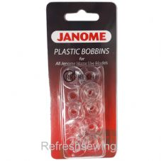 Janome Plastic Bobbins Pack of 10